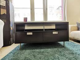 ikea besta jägra schwarz tv bank low board wohnzimmer