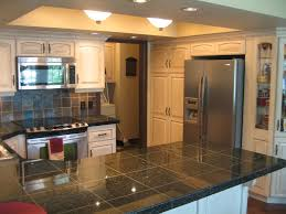 granite tile countertop kitchen traditional with country kitchen