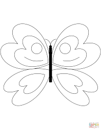 Click The Simple Butterfly Coloring Pages To View Printable Version Or Color It Online Compatible With IPad And Android Tablets