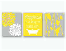 Yellow Gray Bathroom Art by Yellow Bathroom Accessories Decor And Gray Ideas Suite Decorating