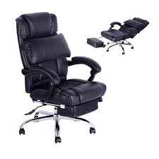 Clear Acrylic Office Chair Uk by Homcom High Back Office Swivel Executive Leather Desk Chair