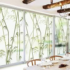 forever bambus dekor fensterfolie ohne klebstoff fensterfolie sichtschutz statische klarsichtfolie mattiertes glas für dusche 3d