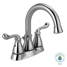 Home Depot Bathroom Faucets Chrome by Delta Southlake 4 In Centerset 2 Handle Bathroom Faucet In Chrome