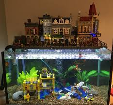 Spongebob Fish Tank Decorations by Awesome Lego Aquarium Fish Fish Things Pinterest Awesome
