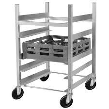 Channel GRR-63 5 Shelf Glass Rack Cart With 6