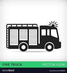 100 Black Fire Truck Truck Flat Icon Royalty Free Vector Image