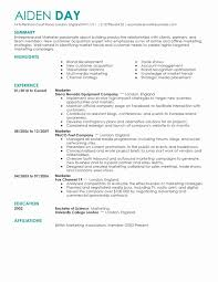 Best Marketing Resume Samples New Free Templates 2016 Sample Examples Line