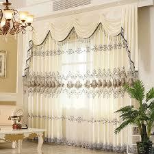 elegante klassische weiß creme deluxe bestickt vorhänge für wohnzimmer windows moderne hohe qualität vorhänge für schlafzimmer hotel