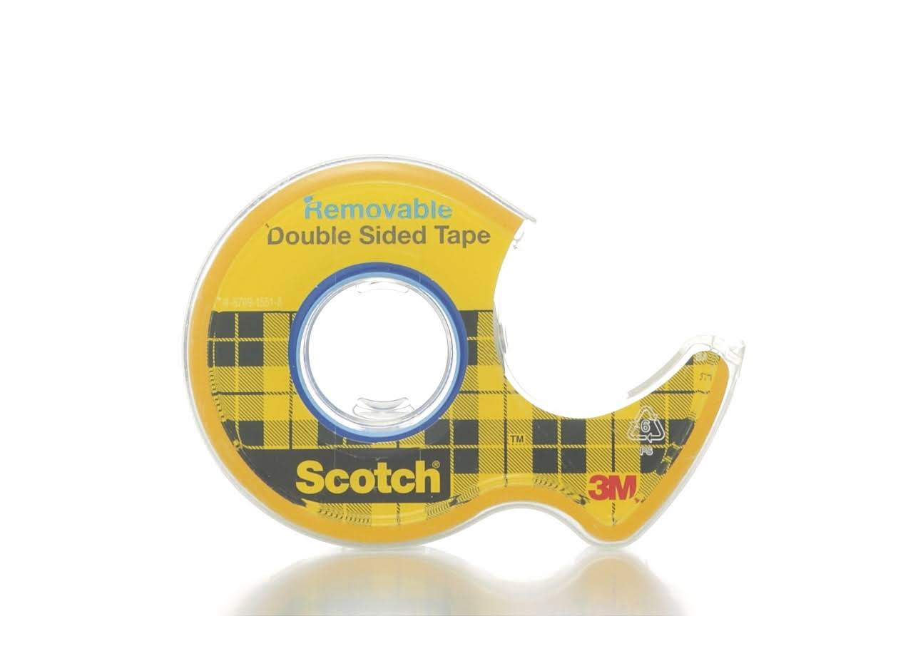 Scotch Removable Double-Sided Tape - 0.75 x 200""