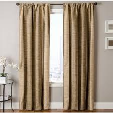 allen roth ellesmere 84 in l striped camel rod pocket curtain