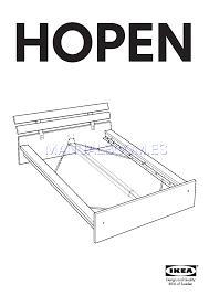 Ikea Hopen Bed by Leer Online Instrucciones De Ensamblaje De Ikea Hopen Bed Frame