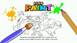 Dino Paint Christmas Coloring Book For Creative Preschool Play Kuato Games