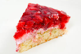 Download Slice of strawberry pie stock image Image of strawberry