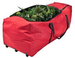 Christmas Tree Storage Container Bag With Wheels Plastic