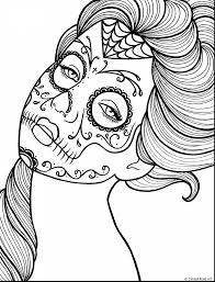 Fantastic Day Of The Dead Coloring Book Pages With Free Printable For Adults And