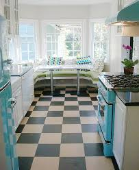 View In Gallery Diner Style Kitchen With Trendy Breakfast Nook