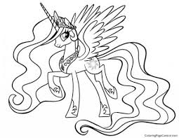 My Little Pony Coloring Pages Princess Celestia In A Dress 52
