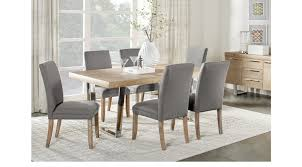 Cindy Crawford Bedroom Furniture by San Francisco Ash 5 Pc Dining Room Gray Chairs Rectangle