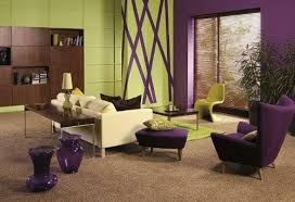 inspirierende lila und olivgrün schlafzimmer foto