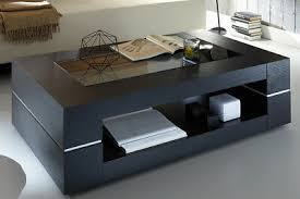 couchtisch schwarz echtholzfurnier sera mdf wohnzimmer tisch