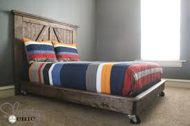 diy platform bed on wheels shanty 2 chic