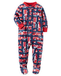 1-Piece Firetruck Fleece PJs | Carters.com