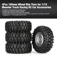 100 Truck Rims And Tires Package Deals 4Pcs Roda Rim Ban 102mm Untuk HSP 1 8 OffRoad RC Car Buggy Tires