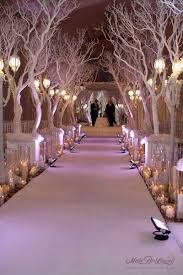 Winter Wonderland Wedding Decorations I Would Love To Have These Trees At My Why Cherry Blossom
