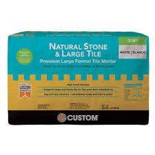 Mapei Thinset For Glass Tile by Custom Building Products Natural Stone And Large Tile 50 Lb White