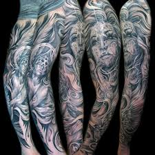 Angel Face Cathedral Sleeve Fullview Tattoo Mancia