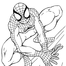 Download Coloring Pages Free Spiderman Spider Man Page Printable
