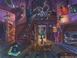 Animated Haunted House Desktop Wallpaper