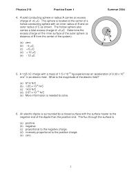 What Distance Is Needed From by Direction Of Electric Force General Physics Solved Exam Docsity
