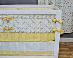crib bedding neutral pastel mint yellow gray nursery bedding