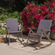 100 Gus Rocking Chair Shop Outdoor Wood Set Of 2 By Christopher Knight