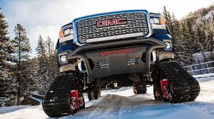 GMC Unveils Tank-treaded All Mountain Concept Pickup | Fleet Owner Wheels And Tire Stretching Advance Auto Parts Vehicle Hot Mattel Monster Jam Trucks Mohawk Warrior Diecast Mattracks Rubber Track Cversions John Deere Toys Treads Pickup Hauler With Horse Trailer At Jeep Wrangler Jl 2018 Mopar Pinterest Jeeps American Truck Subaru Impreza Wrx Stock 20 Liter Engine Heavy Duty Offroad For The Bush Stock Image Of Systems Woodys Mini Tank Vs Ifv Apc A Military Ground Idenfication Guide This Is What Makes Unstoppable Offroad Powertrack 4x4 Tracks Manufacturer Road Safety Tyre