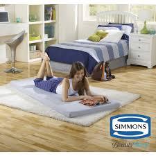 Heated Dog Beds Walmart by Simmons Beautysleep Siesta Twin Memory Foam Guest Roll Up Mattress