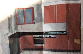 bordeaux rote küche mit spülmaschine