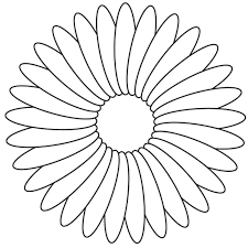 Color Flowers Coloring Page In Minimalist Free Kids