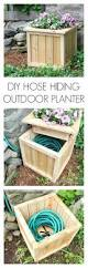 Decorative Hose Bib Extender by Diy Hose Hiding Outdoor Planter An Easy Project For Every Yard