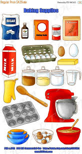 50 OFF Baking Clipart Set Kitchen Appliances Cooking Ingredients Pan Digital Scrapbooking DIY PNG Jpeg For Commerc From I365Art On