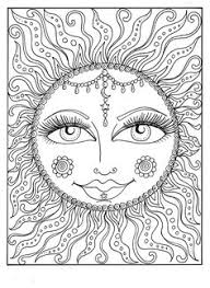 SUN Summer Adult Coloring Page By ChubbyMermaid
