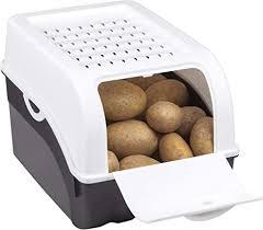 rival kartoffel und gemüsebox kunststoff ut anthrazit 14 de weiß 05 24 x 24 x 2 5 cm