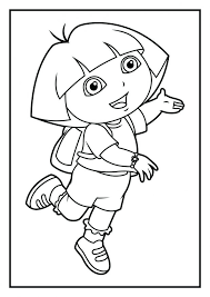 Coloring Dora Page And Boots Pages To Print Printable Princess