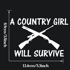 Funny Vinyl Truck Decals COUNTRY GIRL WILL SURVIVE Gun Funny Art ... Solargraphicsusacom Air Cleaner Decals Country Girls Do It Better Real Tree Pink Camo Window Decal Amazoncom Reel Girls Fish Vinyl With Bass Sticker Hot Country Girl Rebel Flag Full Color Graphic Boots Class And A Little Sass Thats What Country At Superb Graphics We Specialize In Custom Decalsgraphics And Sexy Fat Go Big Logo Car Truck White Baby Inside Decal Sticker Intel Funny Mom Dad Saftey Pin By Hallie Purvis On Pinterest Vehicle Cars Muddy Girl Svg Muddin Mudding Vinyl Cut Files Girl Will Survive Gun Art Online Shop Styling For Cowgirl Stud Aussie Bns Cow