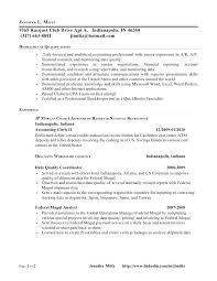 Resume For Accounting Profile Examples Professional Sample Internship Objective Skills