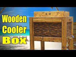 how to build a rustic cooler box from old used recycled pallets