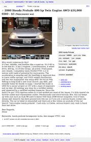 For $24,000, This 2000 Honda Prelude Will Double Your Pleasure Craigslist Portland Cars Trucks By Owner Best Car 2017 Salem Oregon Used And Other Vehicles Under Olympic Peninsula Washington For Sale By Crapshoot Hooniverse Craiglist Tools Automoxie Salesforce Old Town Music Image Truck Kennewick Wa For Legacy Ford Lincoln Dealership In La Grande Or Vancouver Clark County This 67 Camaro Is An Untouched Time Capsule It Could Be Yours