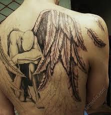 Tattoo Fallen Angel On Back