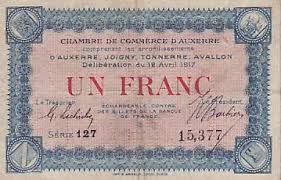 chambre de commerce 12 chambre de commerce and local emergency banknotes from